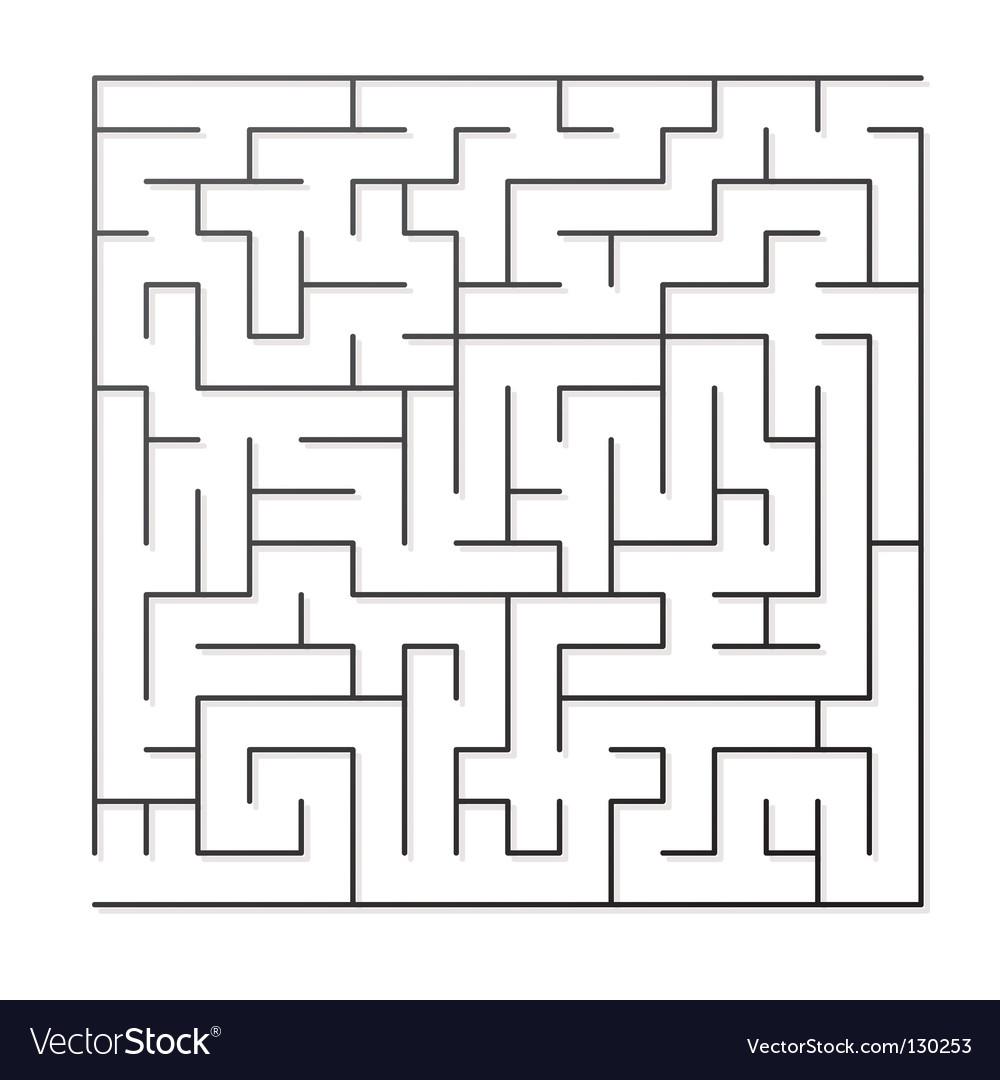Black maze vector | Price: 1 Credit (USD $1)