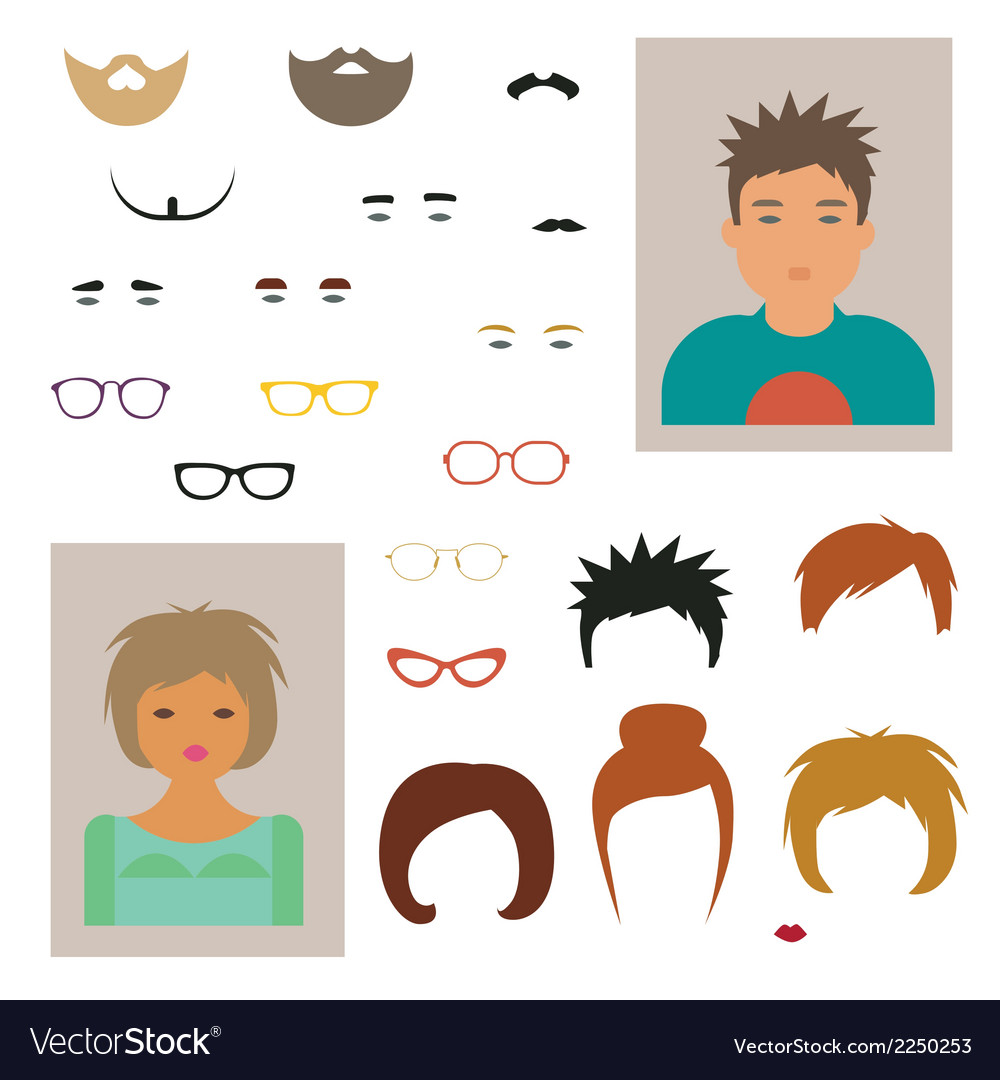 Character designer vector | Price: 1 Credit (USD $1)