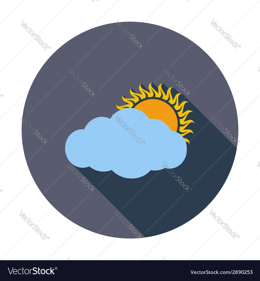 Cloudiness single icon vector | Price: 1 Credit (USD $1)