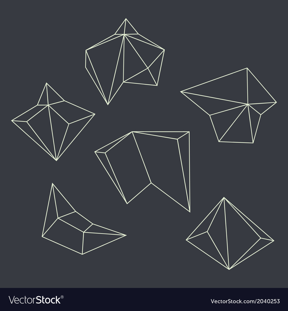 Contours of geometrical figures vector   Price: 1 Credit (USD $1)