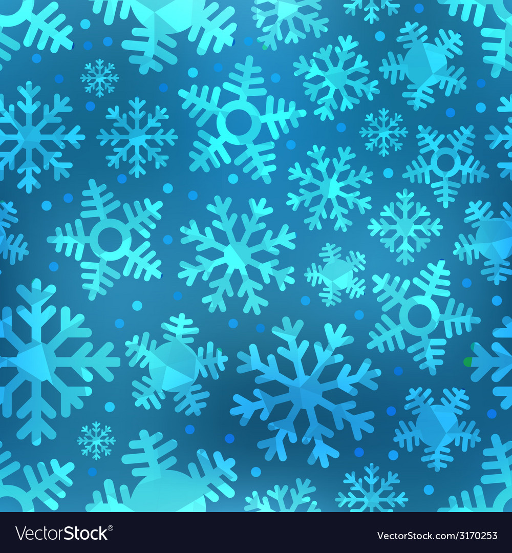 Different blue snowflakes set vector | Price: 1 Credit (USD $1)