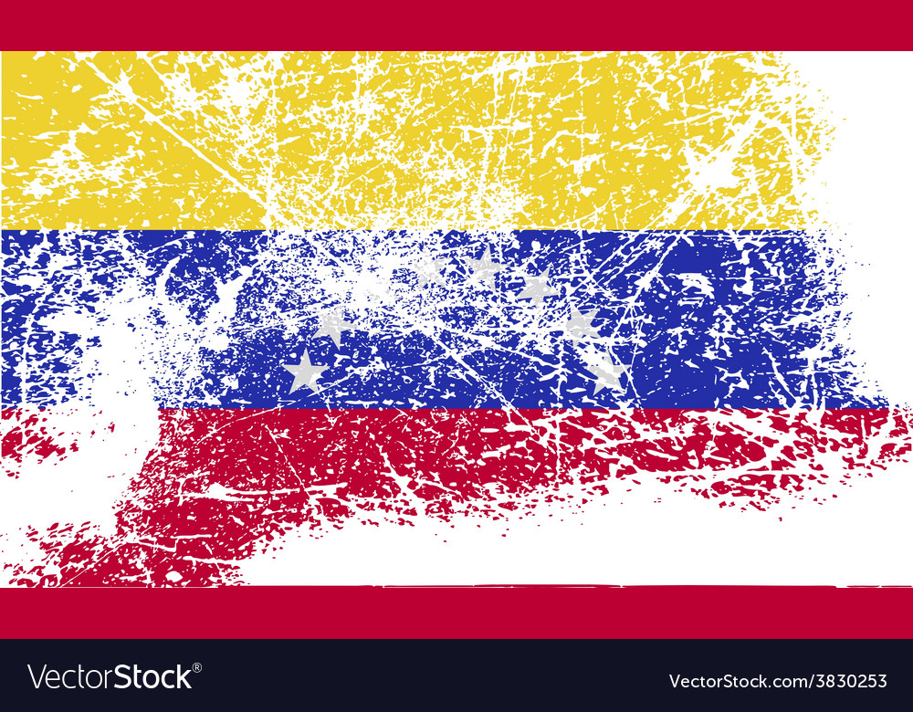 Flag of venezuela with old texture vector | Price: 1 Credit (USD $1)