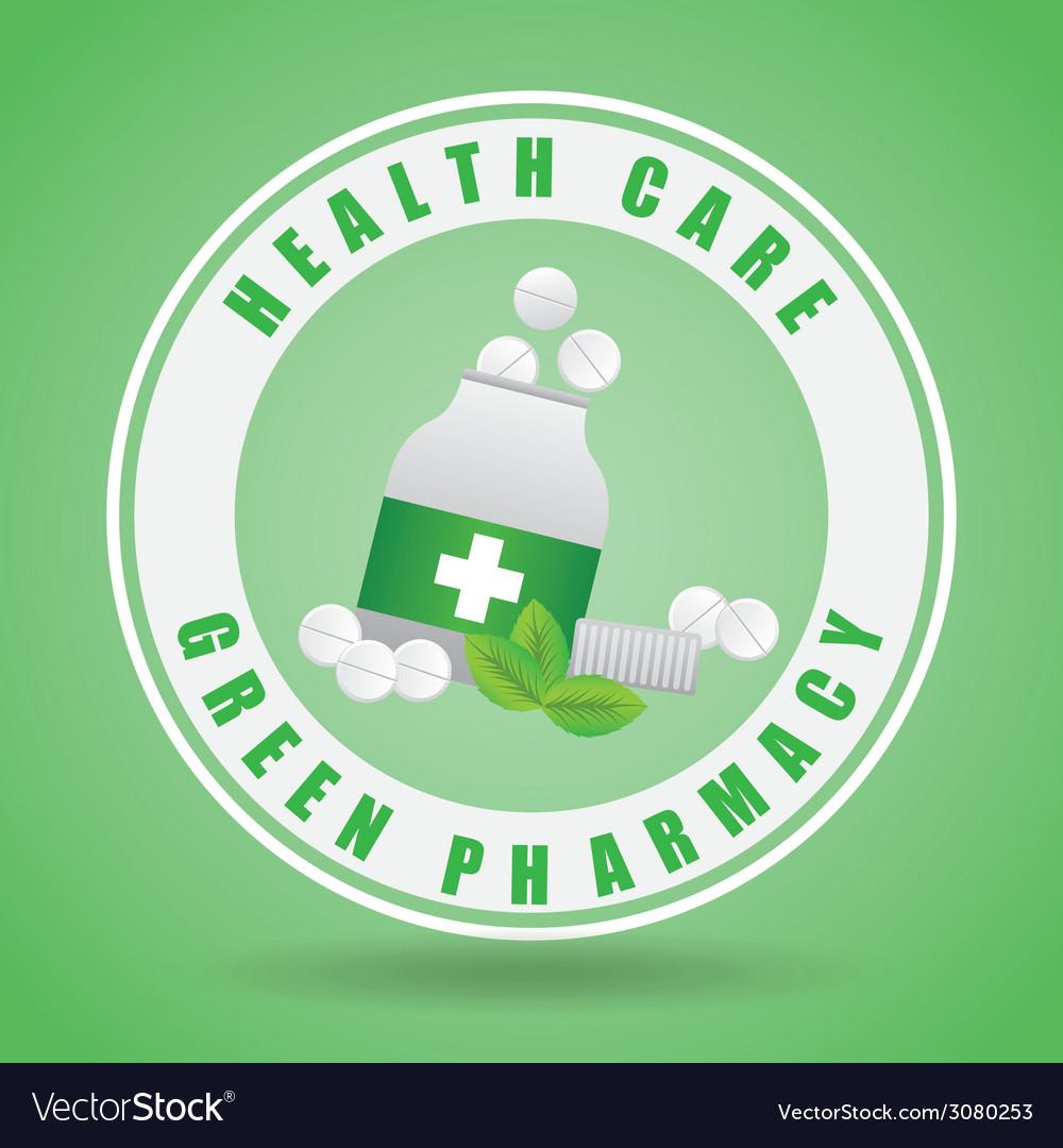 Green pharmacy design vector   Price: 1 Credit (USD $1)