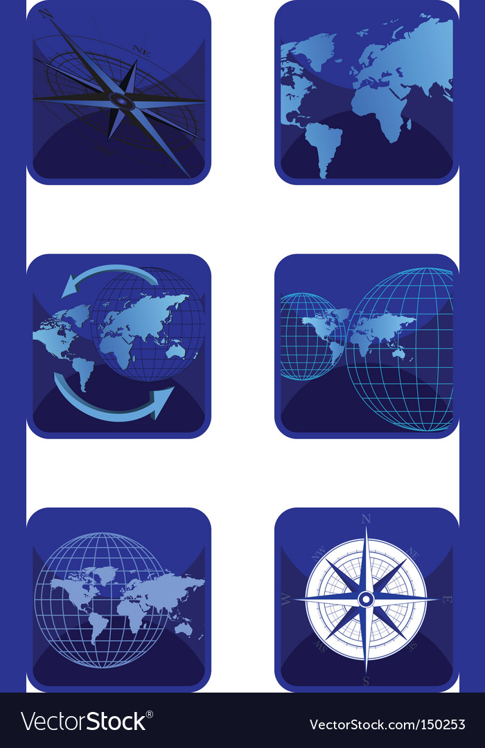 Icons map vector | Price: 1 Credit (USD $1)