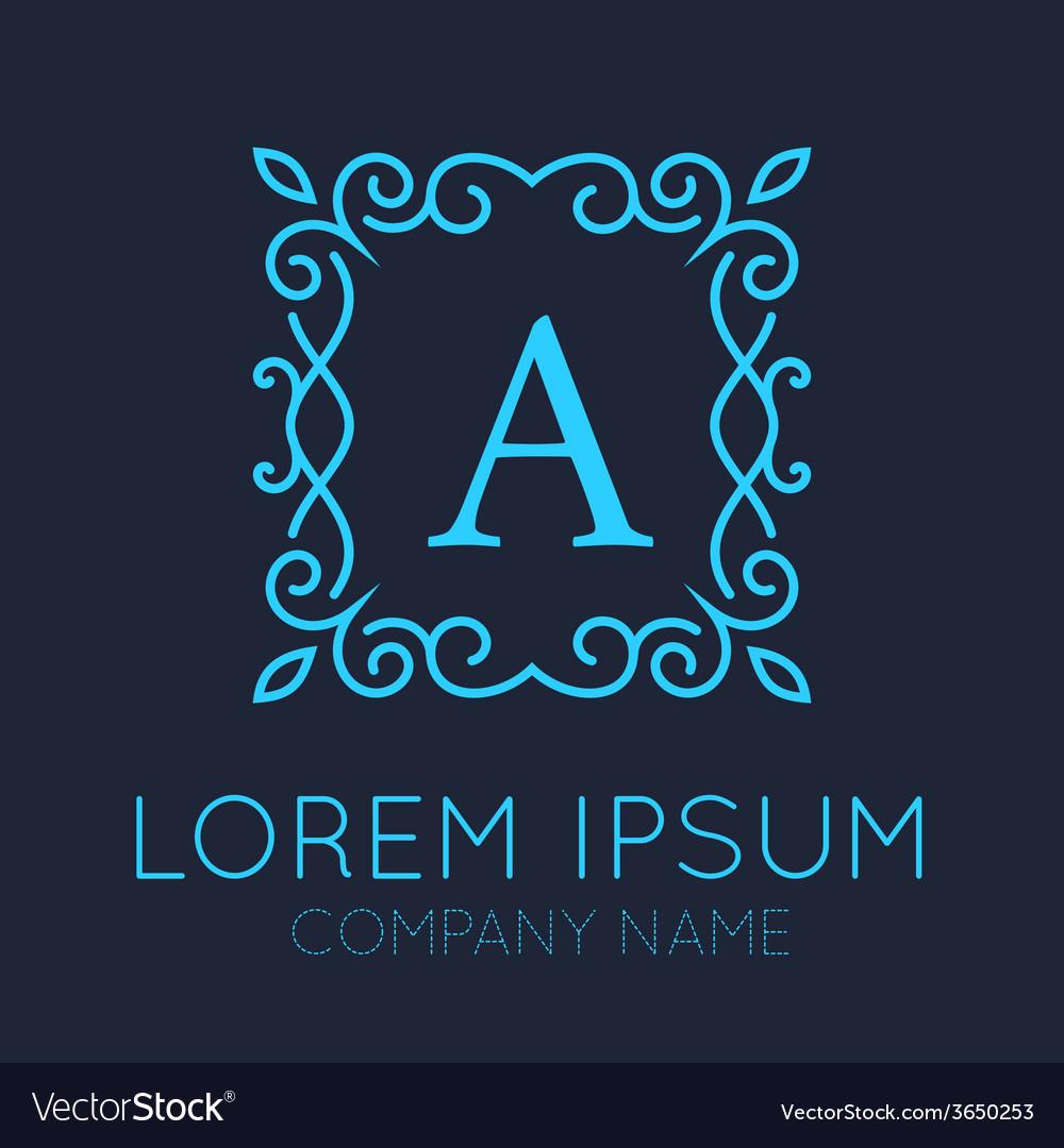 Monogram logo design vector | Price: 1 Credit (USD $1)