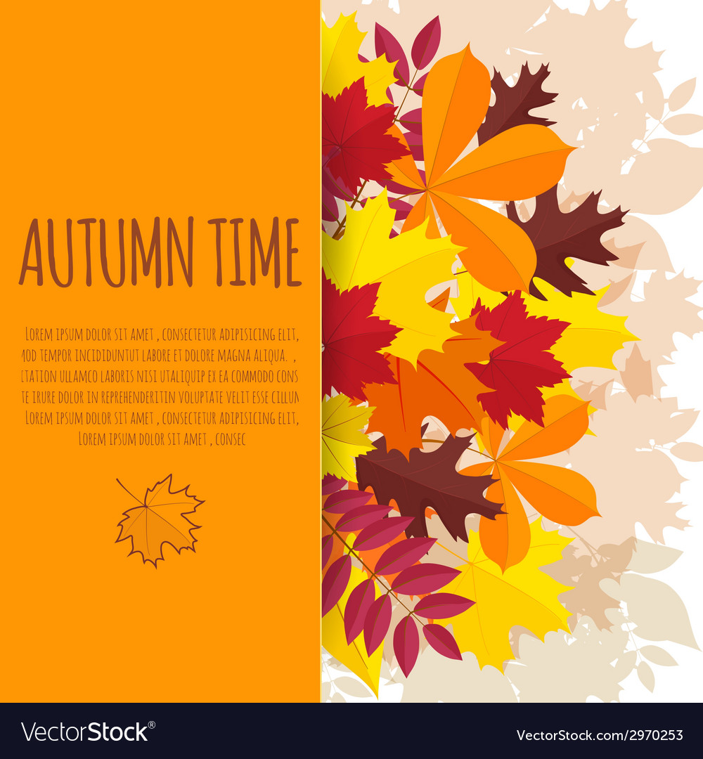 Paper background with autumn foliage vector | Price: 1 Credit (USD $1)