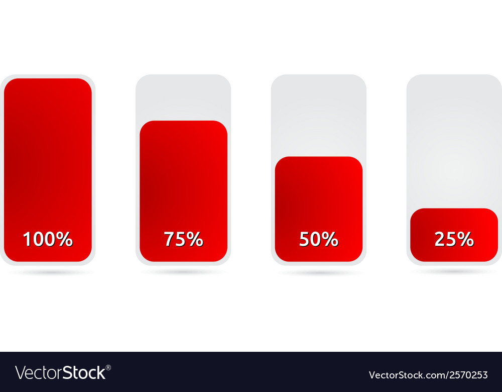 Statistic graph with red color vector | Price: 1 Credit (USD $1)