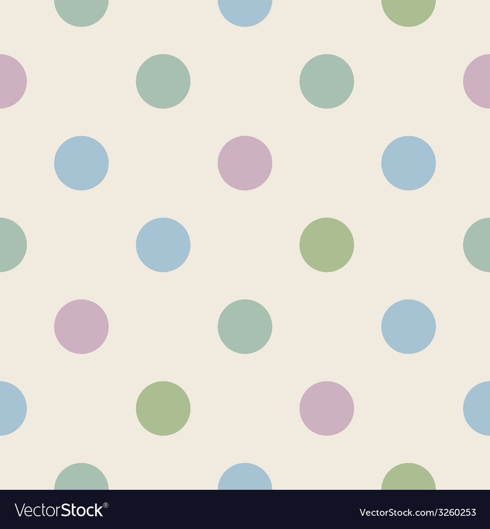 Tile pattern with polka dots vector | Price: 1 Credit (USD $1)