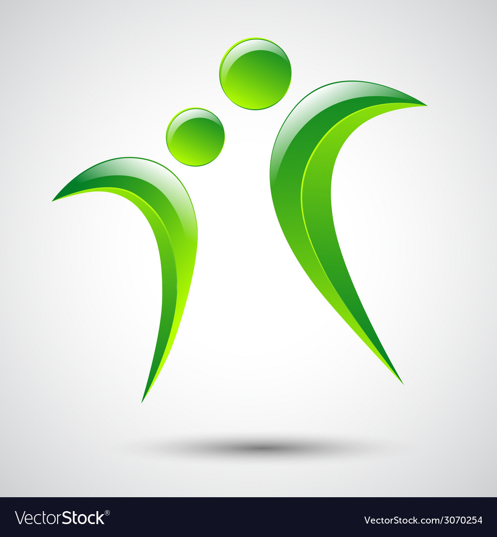 Abstract human figures logo template vector | Price: 1 Credit (USD $1)