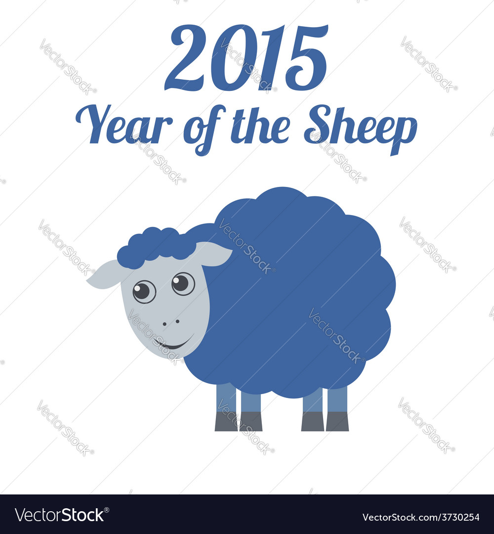 Chinese new year of the sheep 2015 vector | Price: 1 Credit (USD $1)