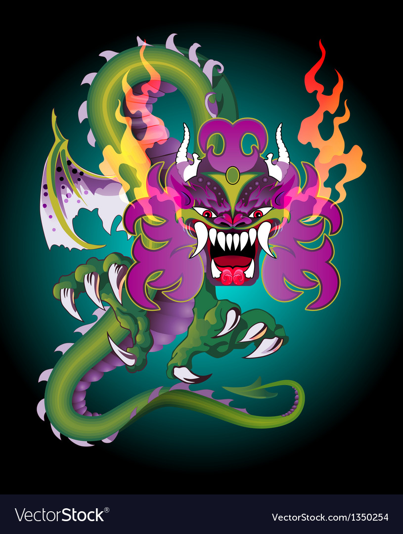 Detailed dragon vector | Price: 1 Credit (USD $1)