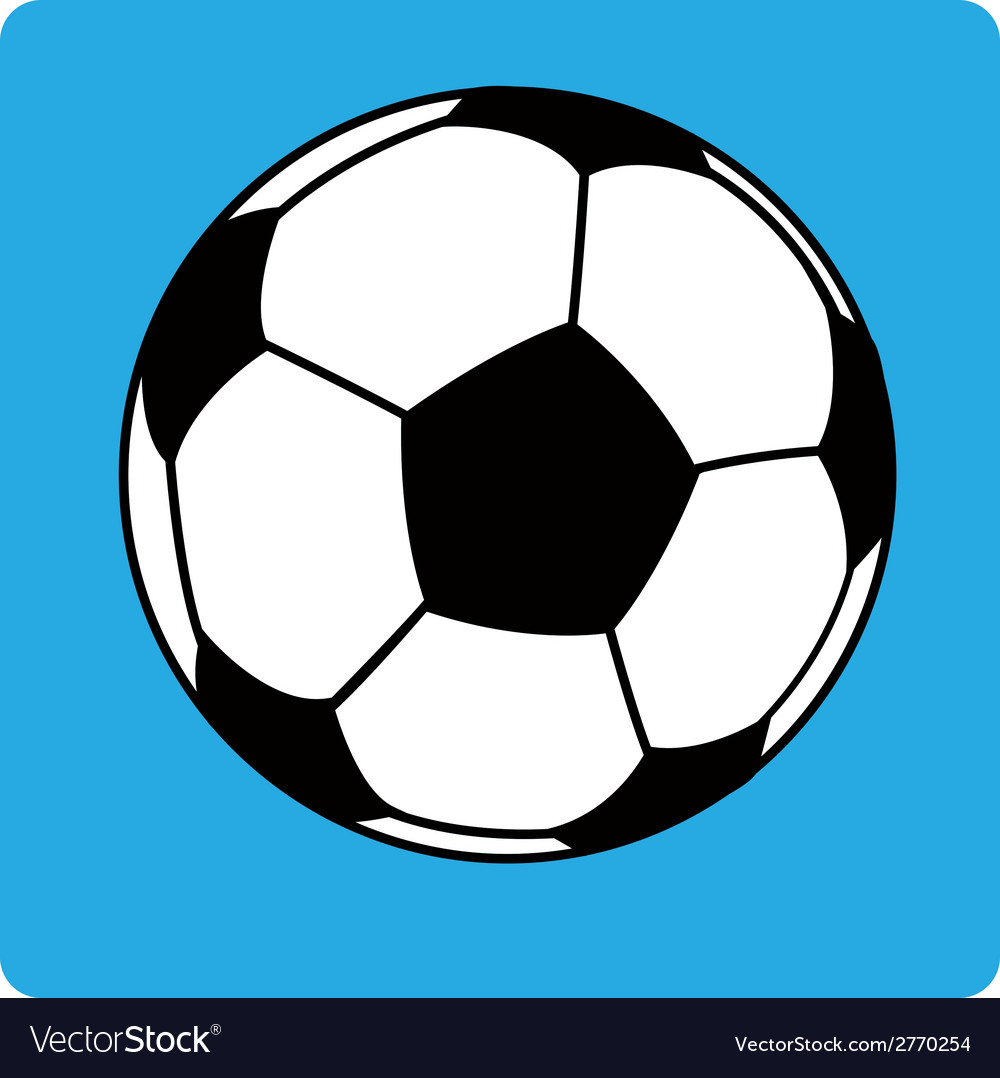 Football ball soccer1 vector | Price: 1 Credit (USD $1)