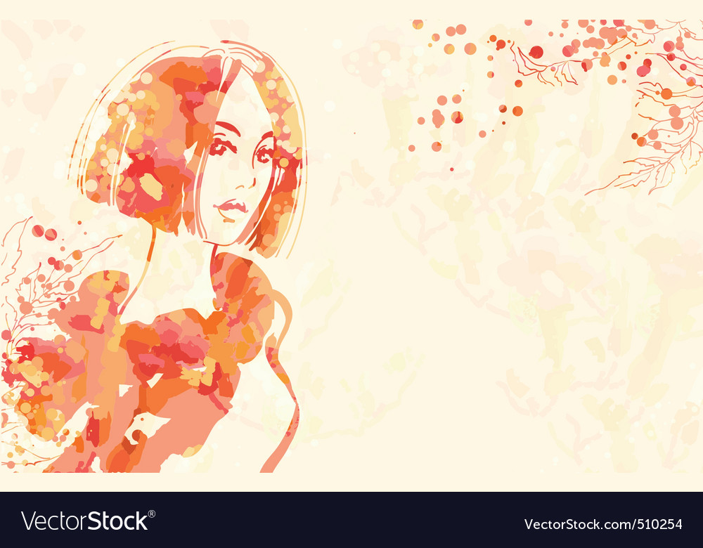 Portrait of beautiful women vector | Price: 3 Credit (USD $3)