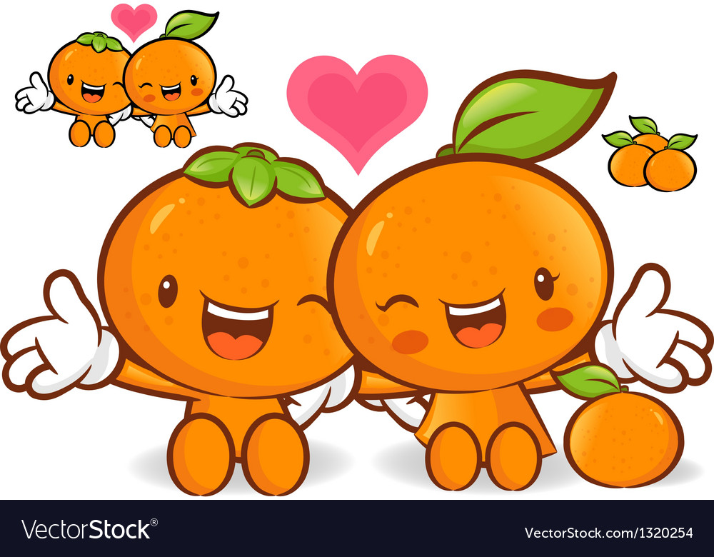 Tangerine and orange couples are welcome to sit vector | Price: 1 Credit (USD $1)