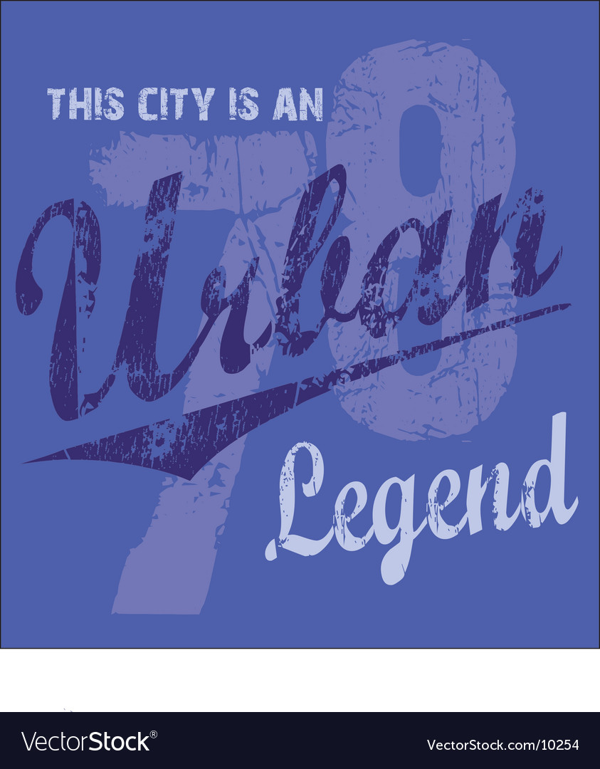 Urban legend vector | Price: 1 Credit (USD $1)