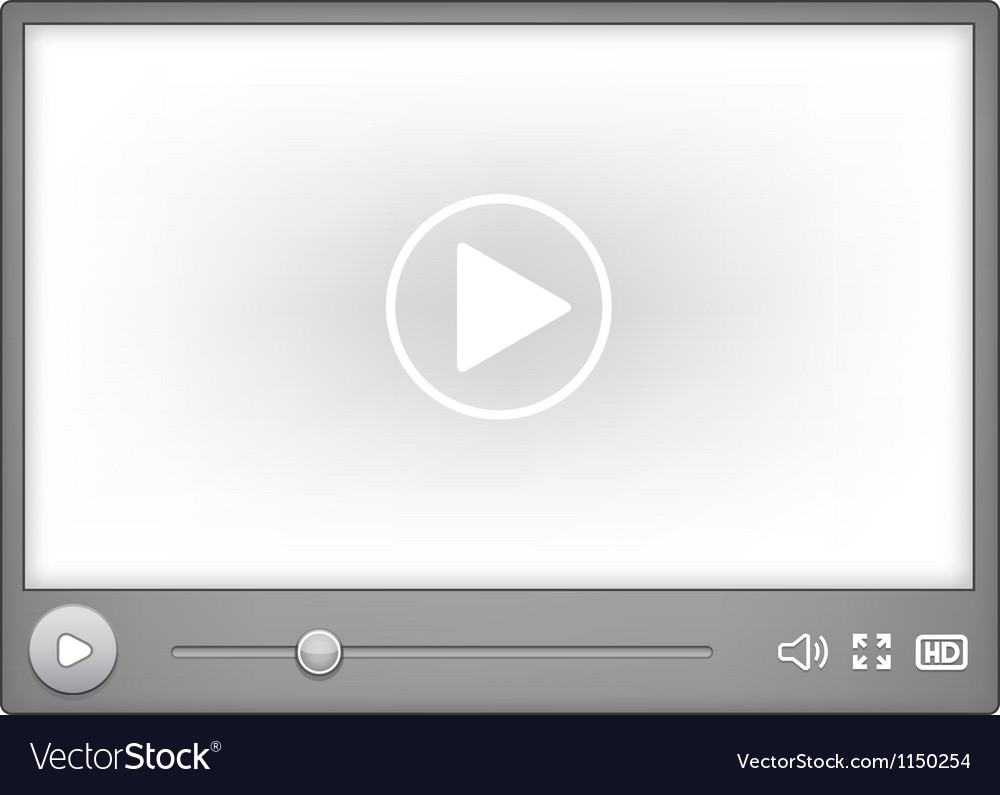 Video player for web vector | Price: 1 Credit (USD $1)