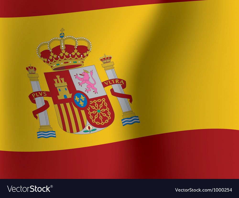 Waved flag of spain vector | Price: 1 Credit (USD $1)