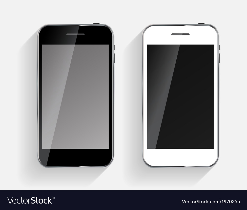 Abstract design black and white mobile phones vector | Price: 1 Credit (USD $1)
