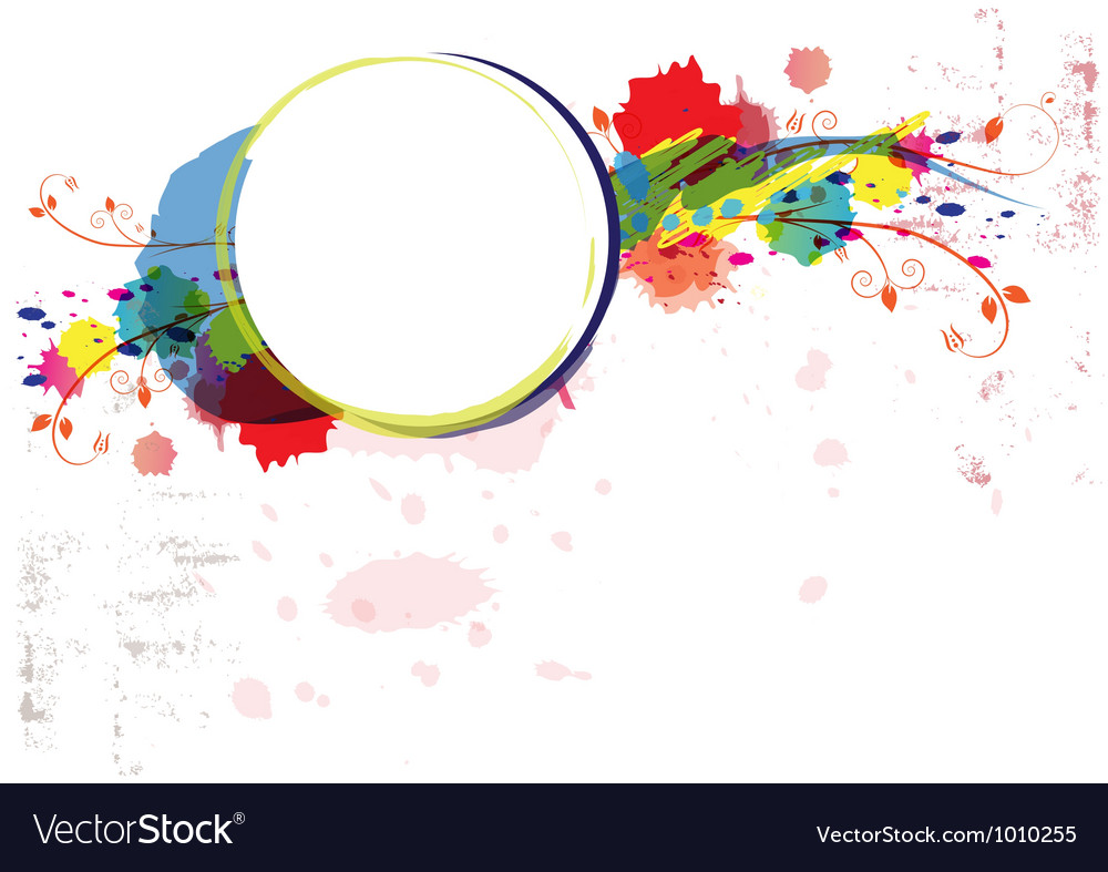 Abstract watercolor paint design artwork vector | Price: 1 Credit (USD $1)