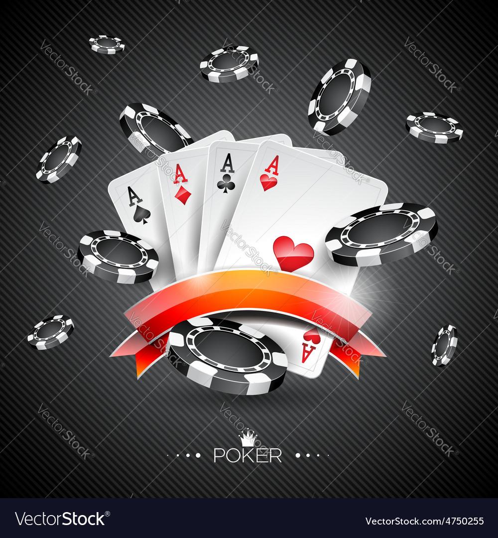 Casino with poker symbols vector   Price: 3 Credit (USD $3)
