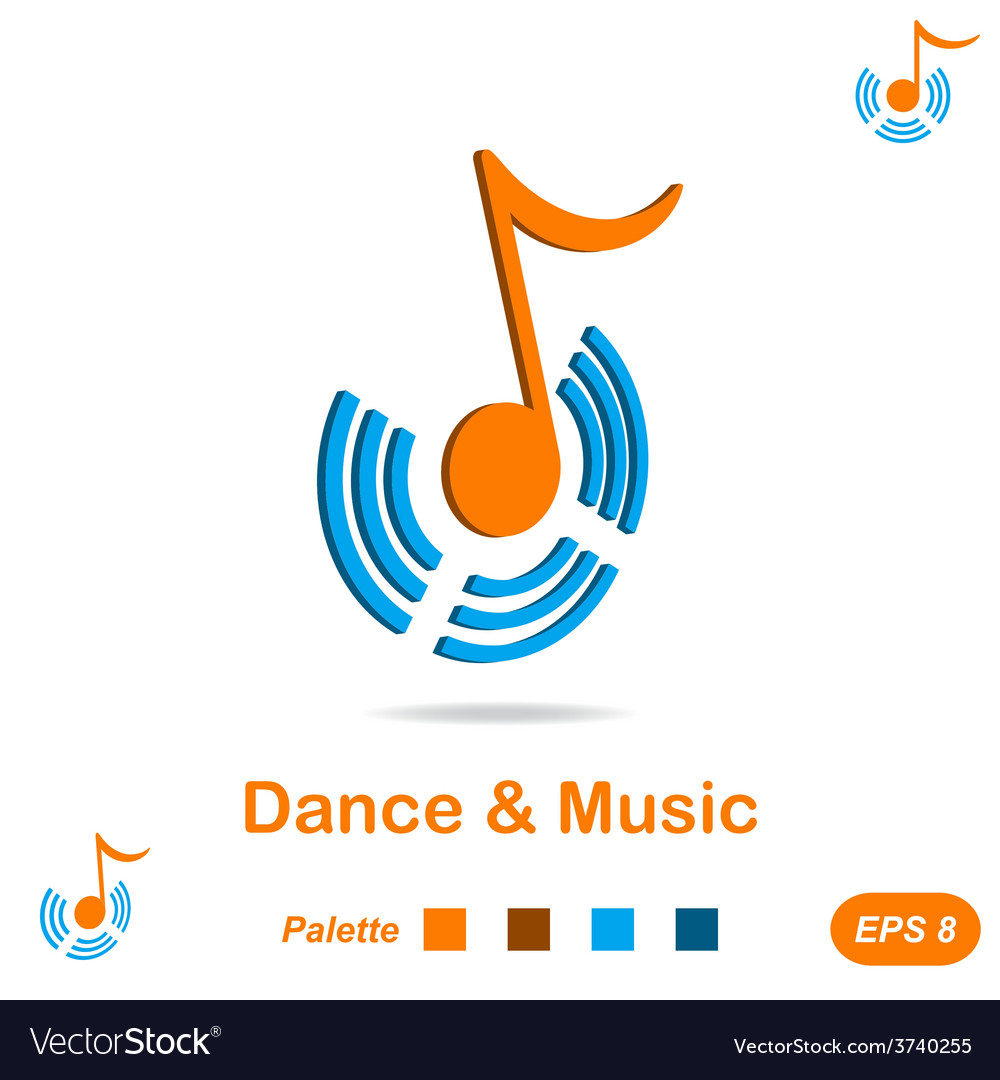 Dance and music concept sign vector | Price: 1 Credit (USD $1)