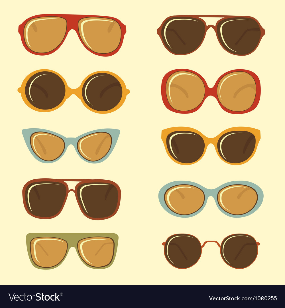 Fashion sunglasses set vector | Price: 1 Credit (USD $1)