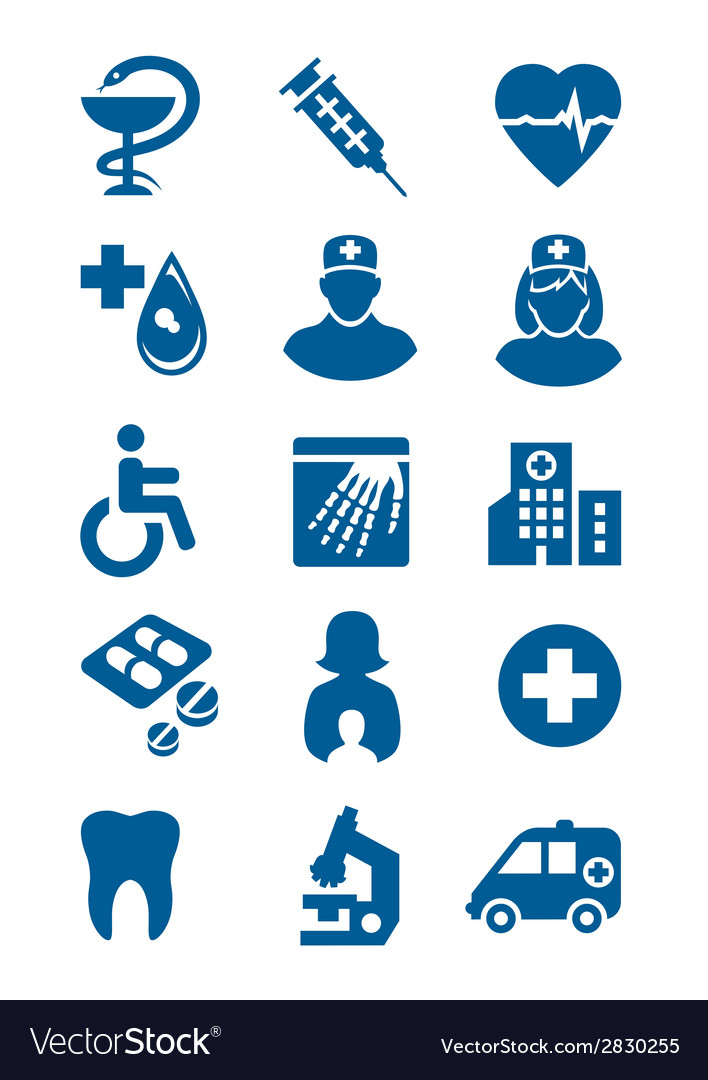 General medical icons vector | Price: 1 Credit (USD $1)