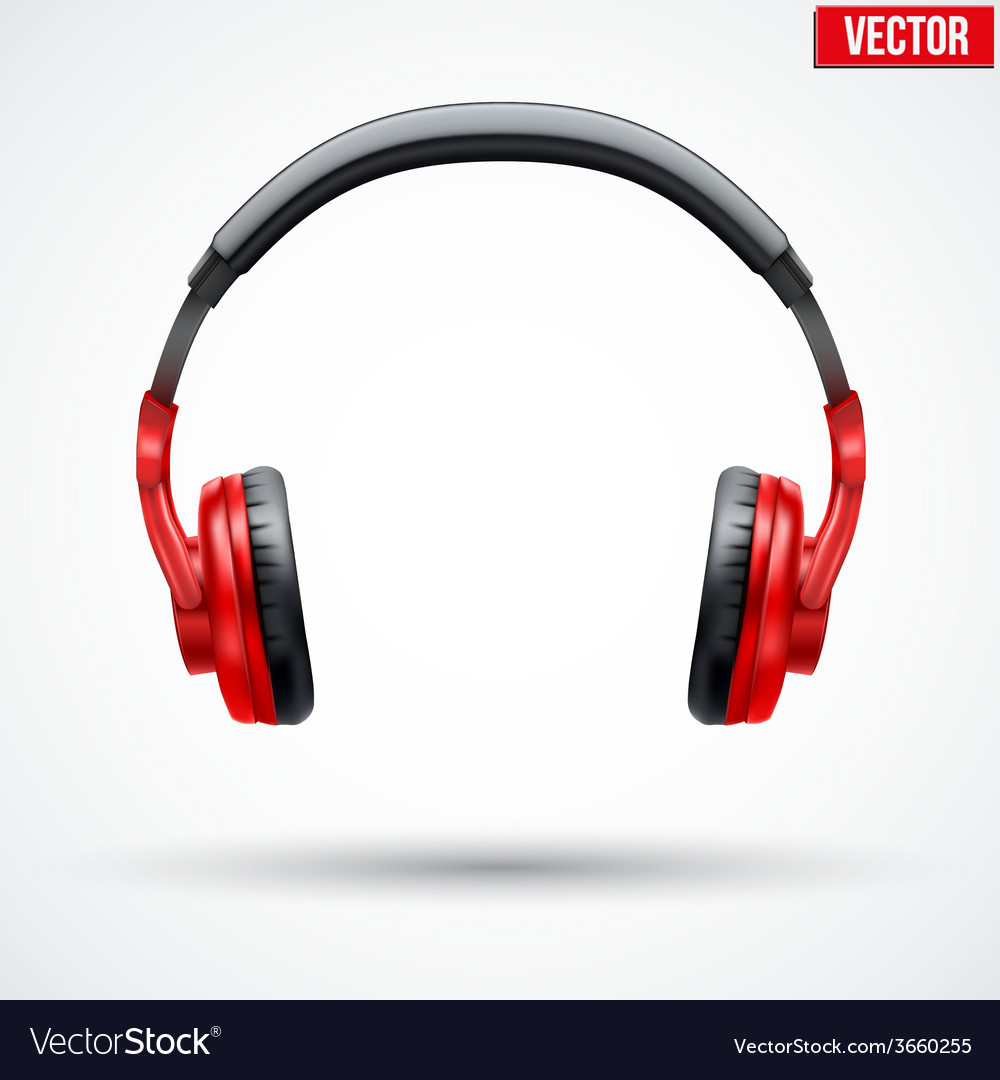 Headphones isolated on white background vector | Price: 1 Credit (USD $1)