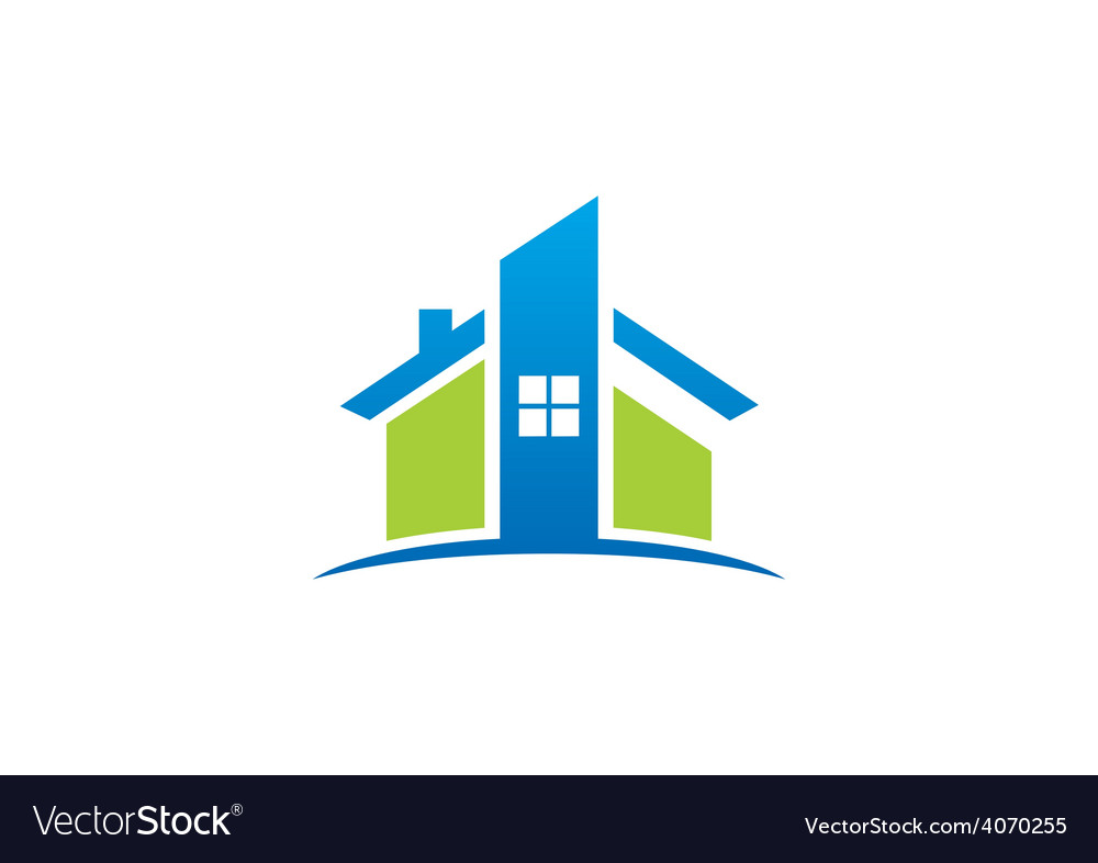 Home real estate abstract construction logo vector | Price: 1 Credit (USD $1)