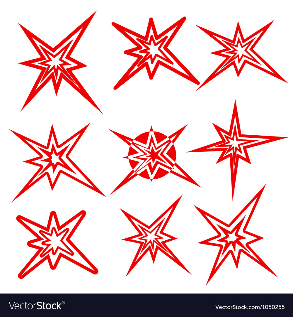 Lightning symbols set vector | Price: 1 Credit (USD $1)