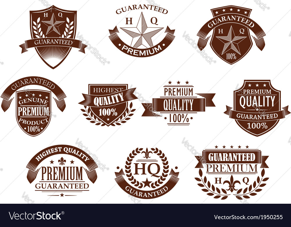 Premium and highest quality guaranteed labels vector | Price: 1 Credit (USD $1)