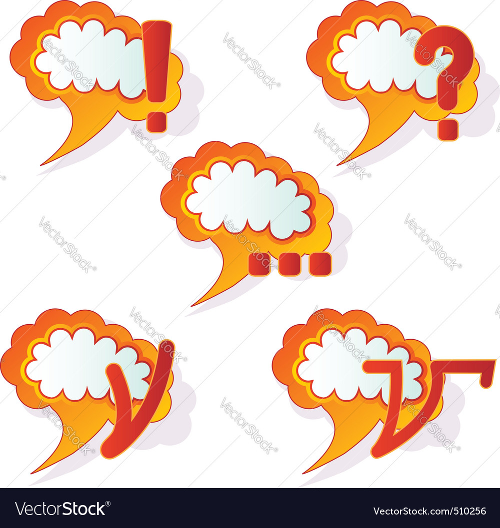 Abstract speech bubbles vector | Price: 1 Credit (USD $1)