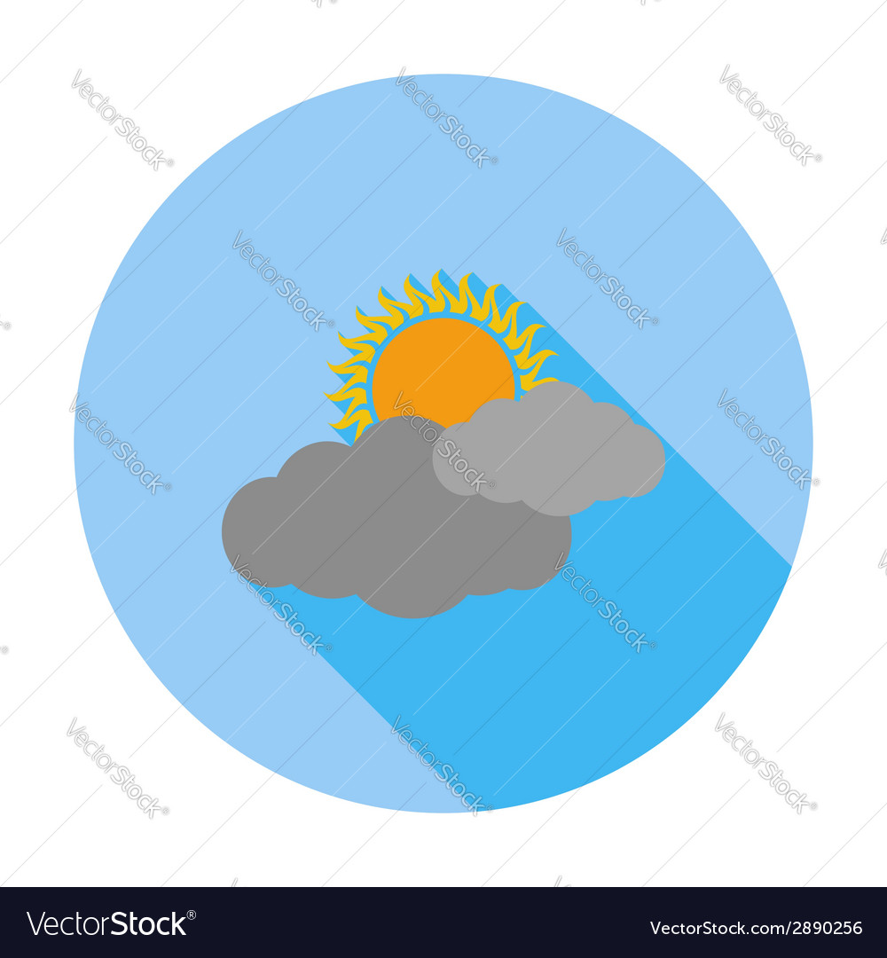 Cloudiness single flat icon vector | Price: 1 Credit (USD $1)