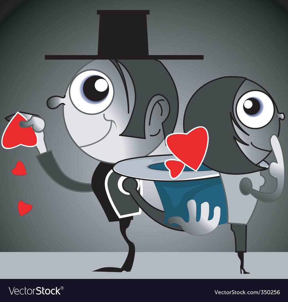 Couple standing opposite vector | Price: 1 Credit (USD $1)