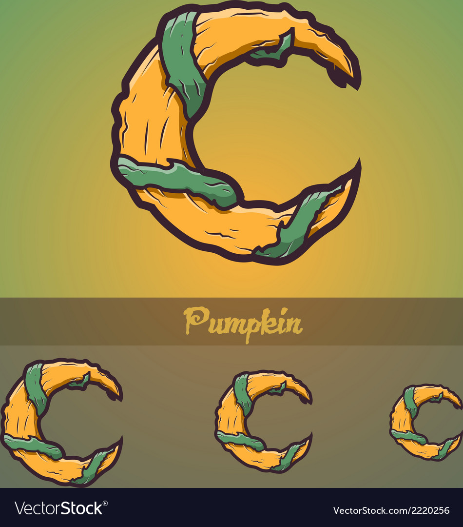 Halloween decorative alphabet - c letter vector | Price: 1 Credit (USD $1)