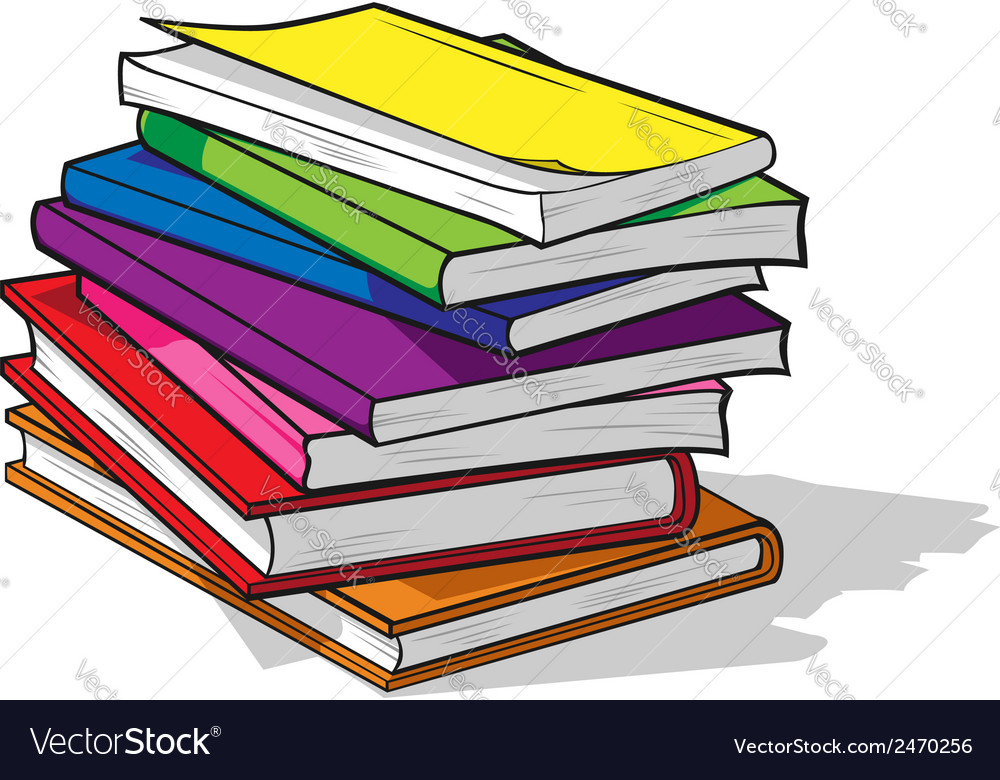 Pile of colorful books vector | Price: 1 Credit (USD $1)