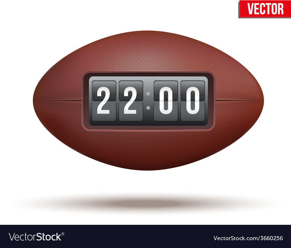 Rugby ball with score of the game vector | Price: 1 Credit (USD $1)