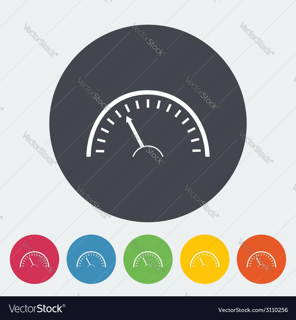 Speedometer icon vector | Price: 1 Credit (USD $1)
