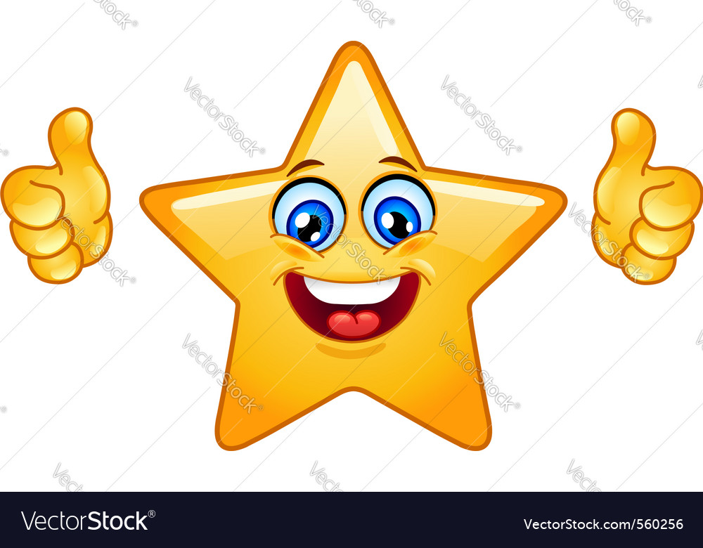 Thumbs up star vector | Price: 1 Credit (USD $1)