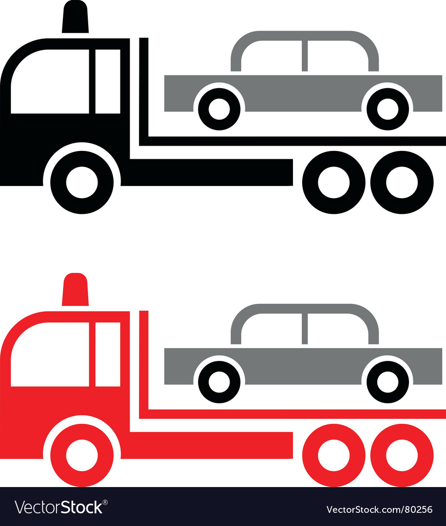 Tow truck vector   Price: 1 Credit (USD $1)