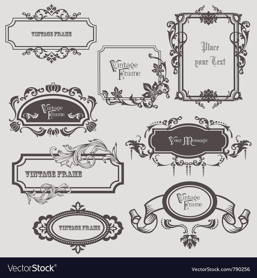 Vintage frames elements vector | Price: 1 Credit (USD $1)