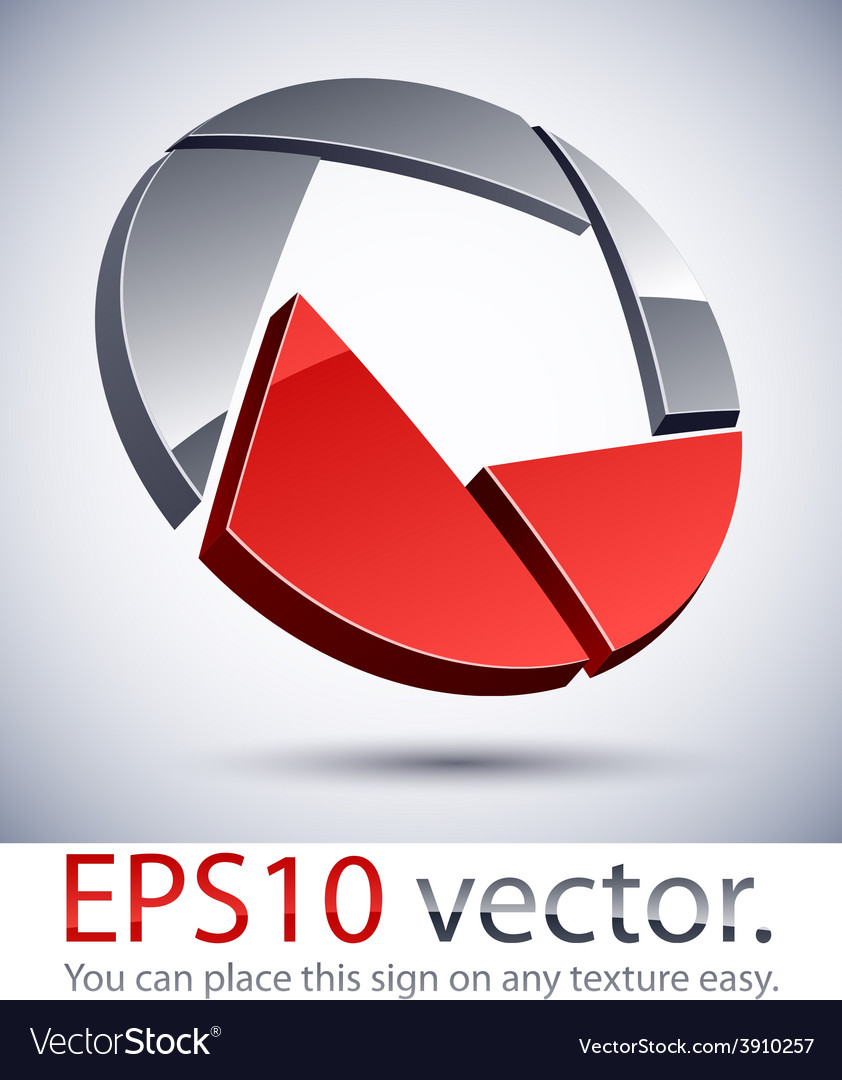 3d modern vignetter logo icon vector   Price: 1 Credit (USD $1)