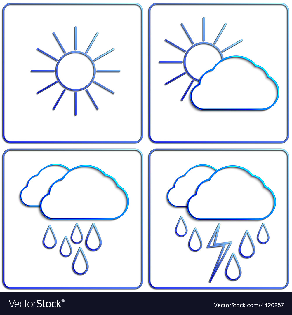Abstract summer day weather flat image set vector   Price: 1 Credit (USD $1)