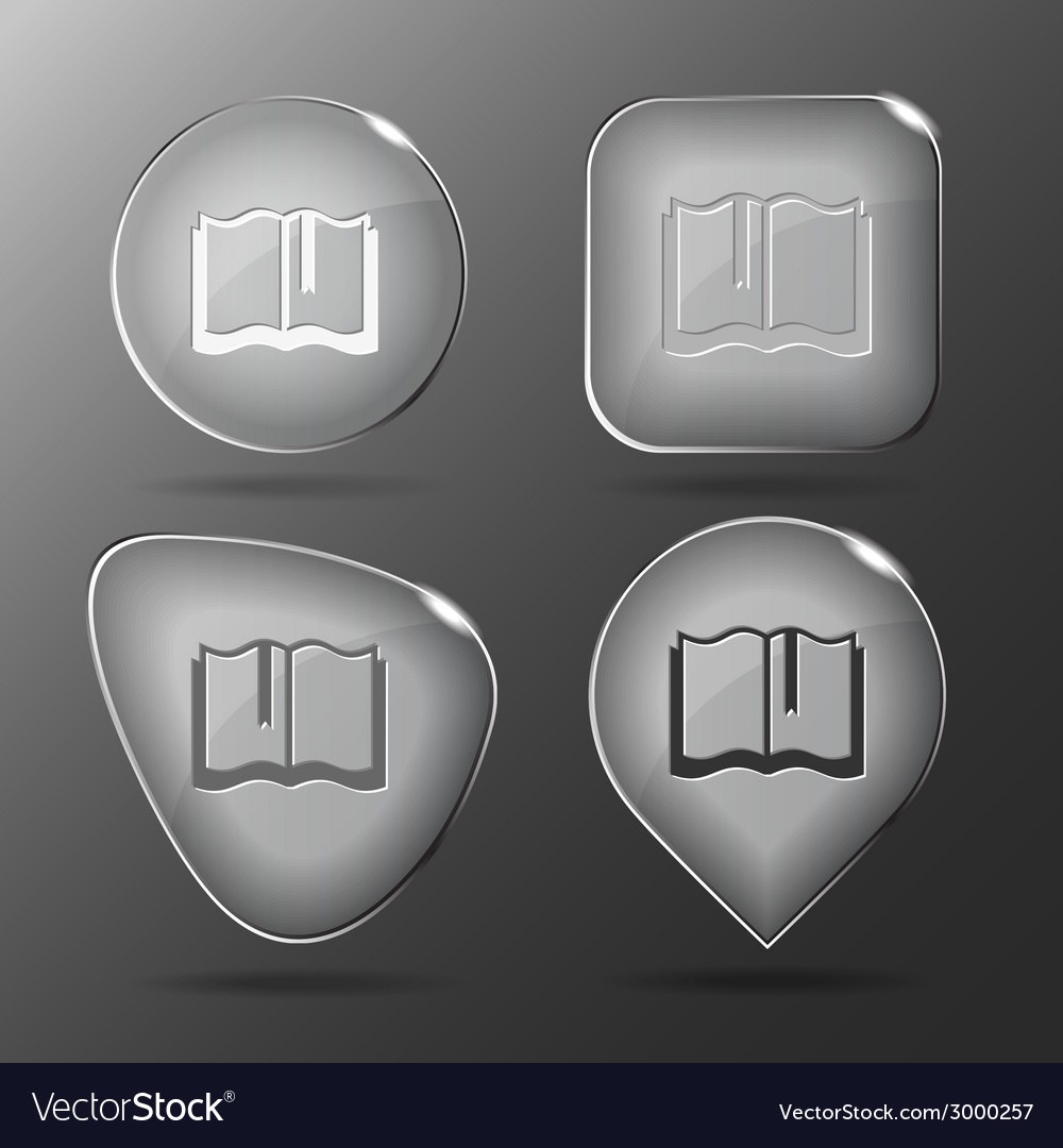 Book glass buttons vector | Price: 1 Credit (USD $1)