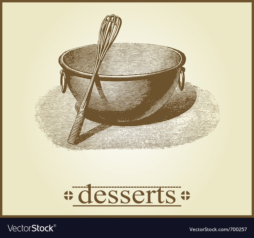 Dessert cover design vector | Price: 1 Credit (USD $1)