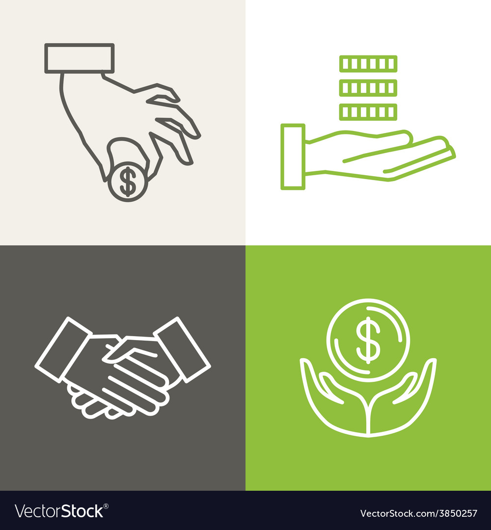 Finance and banking icons vector | Price: 1 Credit (USD $1)