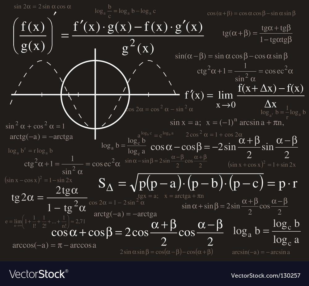 Formulas background vector | Price: 1 Credit (USD $1)
