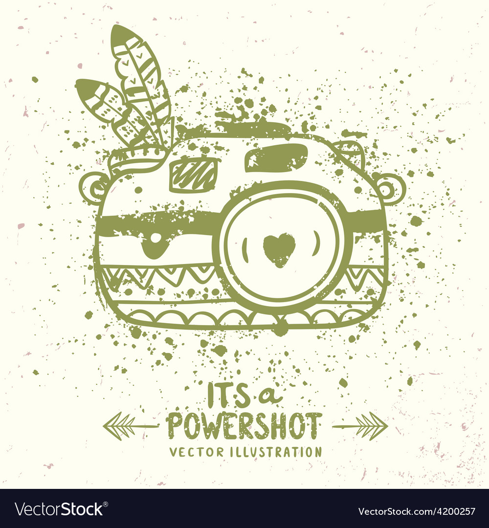Grunge camera vector | Price: 1 Credit (USD $1)