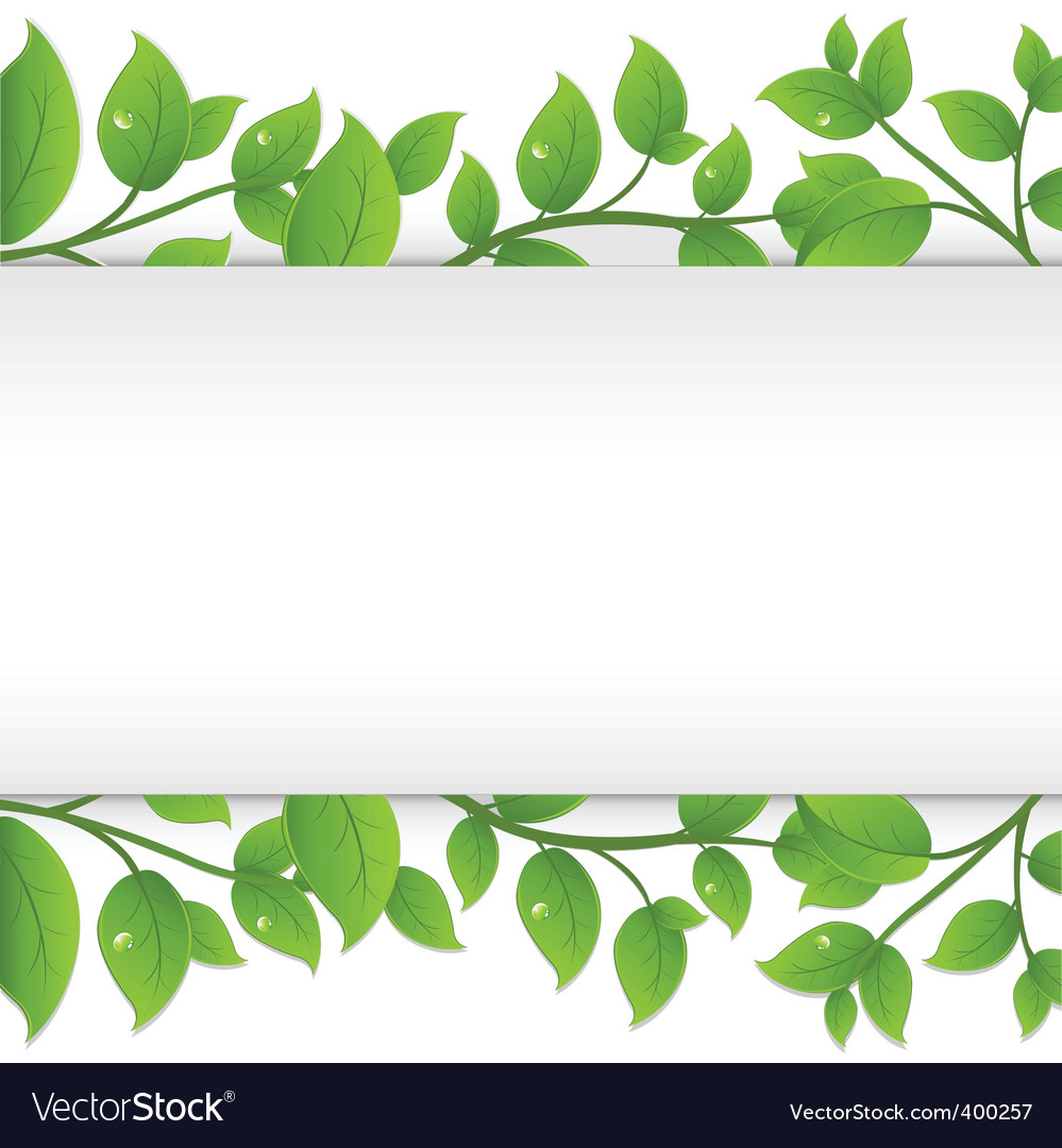 Leafy border vector | Price: 1 Credit (USD $1)