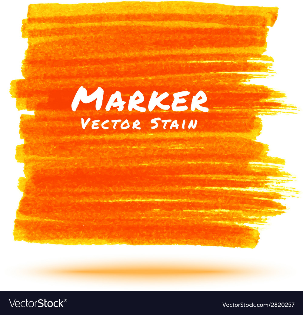 Orange marker stain vector | Price: 1 Credit (USD $1)